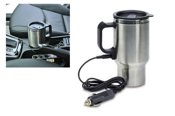 Heated Stainless Steel Mug With 12V Car Charger