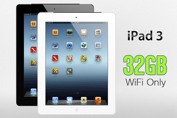 Refurbished Apple iPad 3rd Gen (Wi-Fi Only) 32GB