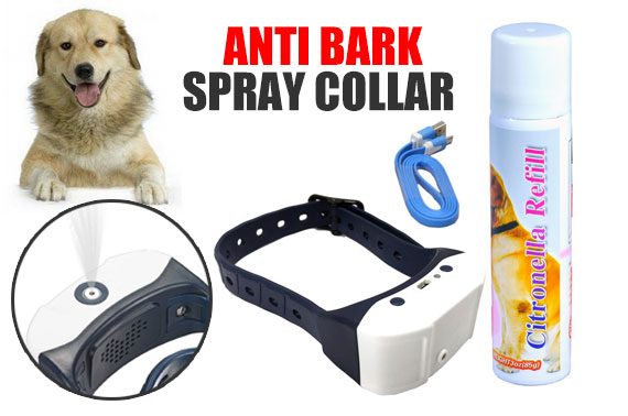 Dog Citronella Anti Bark Training Spray Collar