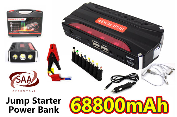 68800mAh Car 12V Jump Starter Battery Power Bank