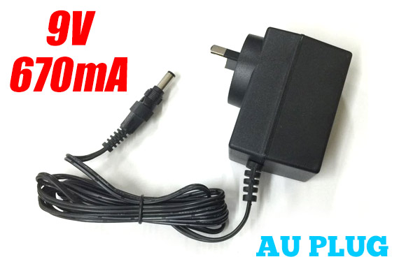 9V 670A Wall Power Adapter (AU Plug)