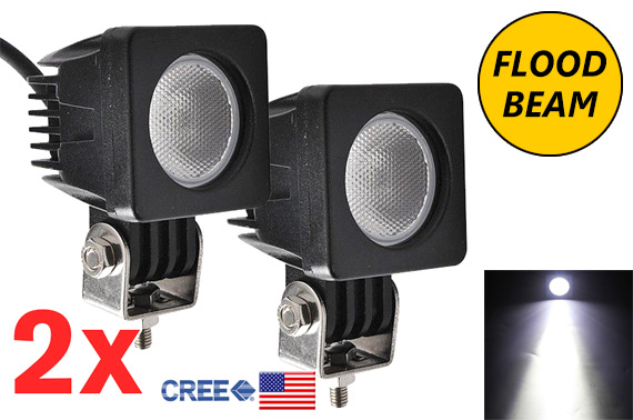 2x 10W CREE LED Flood Light