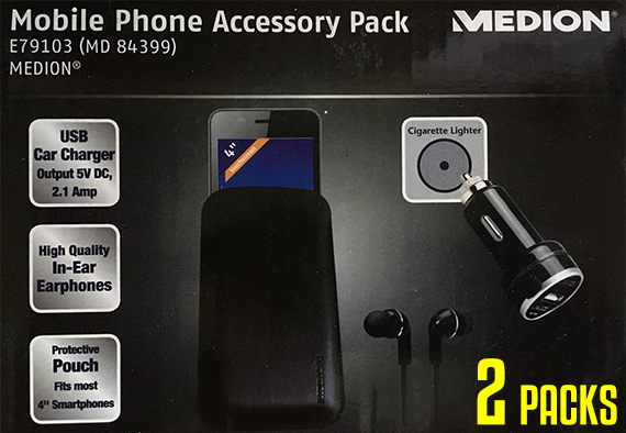 2x 3PCS Refurbished Mobile Phone Accessory Pack