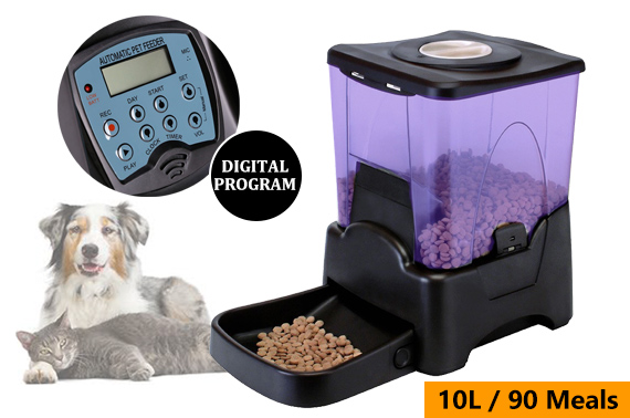 10L Programmable Automatic Pet Food Feeder