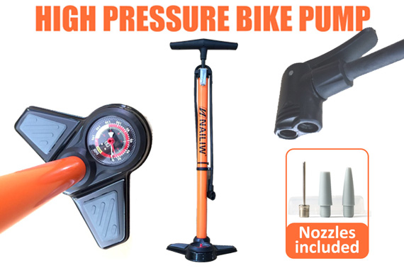 Portable High Pressure Bike Alloy Pump