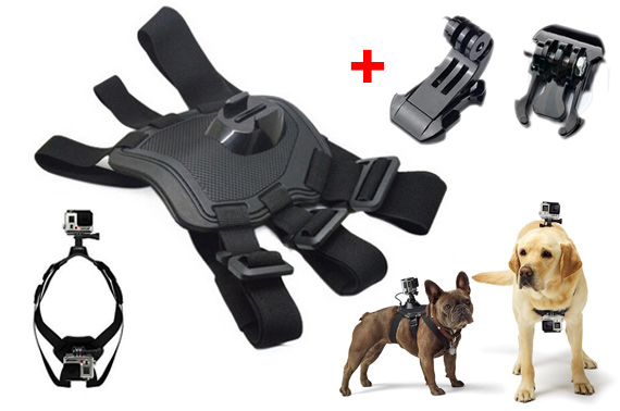 Dog Harness Chest Strap Mount Kit For GoPro Camera