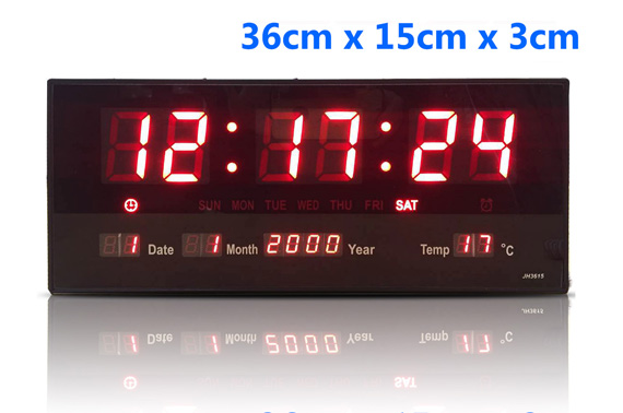 Digital Large LED Wall Alarm Clock With Calendar Temperature