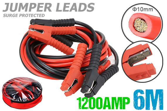 Heavy Duty 1200AMP Jumper Leads Jump 6M LONG