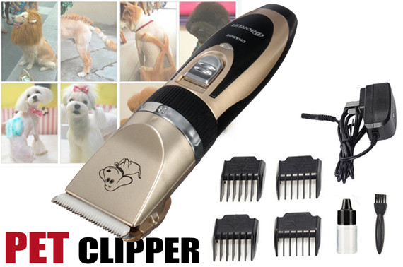 Cordless Electric Rechargeable Dog Clipper Grooming Comb Set