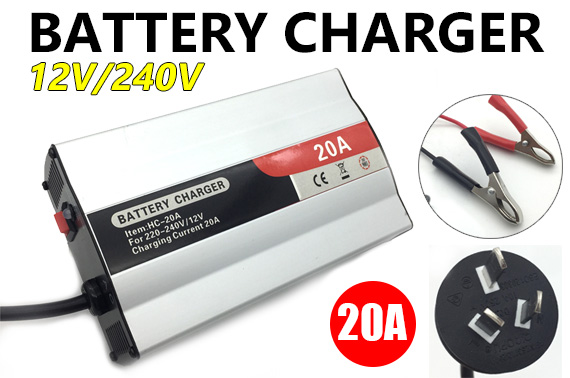 240V/12V 20Amp Battery Charger for Car Boat Caravan Motorcycle