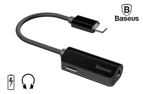 BASEUS 8pin to 3.5mm Audio Jack + Lightning Charge Cable