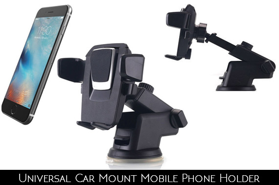 Universal Windshield Mount Car Holder For Mobile Phone / GPS