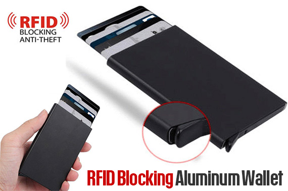 FREE Ozstock Deal: RFID Blocking Aluminum Slim Wallet ID Credit Card Holder