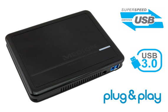 High Speed Portable External Hard Disk Drive (HDD) Medion 2.5