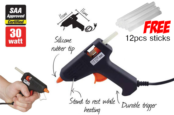 30w Hot Melt Glue Gun with Bonus 12 Glue Sticks