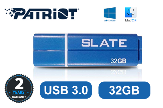Patriot Slate 32GB USB3.1 Gen1 Works with USB3.0/2.0 Flash Drive