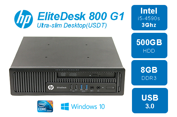 Ex-lease HP EliteDesk 800 G1 Ultra Slim Desktop USDT PC
