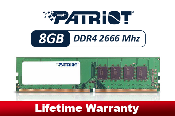 Patriot 1x8GB DDR4 Memory 2666Mhz Single Module
