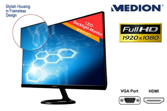 Refurbished Full HD MEDION 27