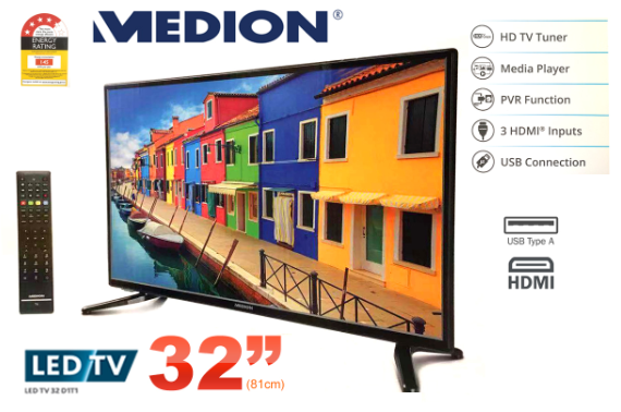 Refurbished MEDION 80cm 32