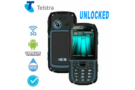Telstra Tough 4 ZTE T55A IP67 Waterproof, Rugged 3G Phone UNLOCKED