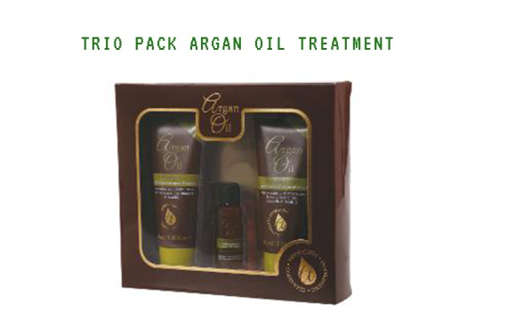 XHC Argan Oil Hair Gift Set 3 Pack-Shampoo, Conditioner, Hair Treatment