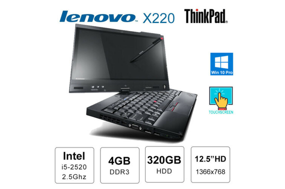 Refurbished Lenovo x220 Touchscreen Laptop with stylus