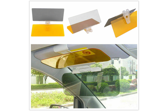Car Anti-Glare Sun HD Visor Mirror Day & Night Dual-Use Safety Easy to Install