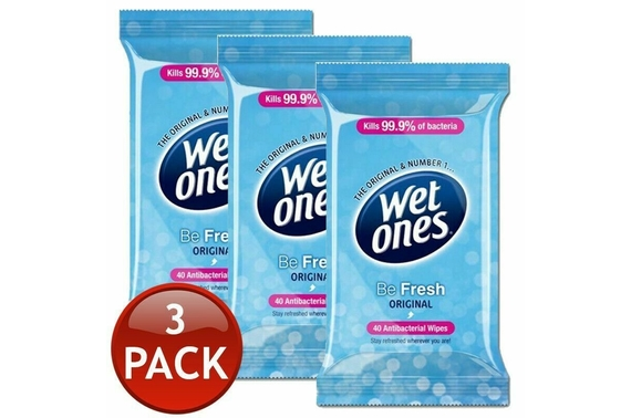 3x WETONES ORIGINAL HAND CLEANSING WET WIPES