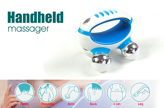 Mini Handheld Vibrating Full Body Massager - Blue