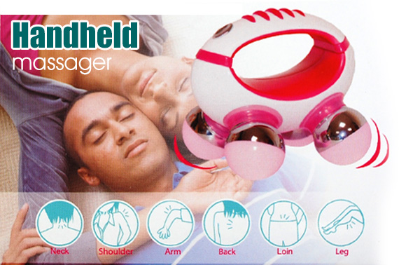 Mini Handheld Vibrating Full Body Massager - Pink