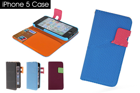 FREE Ozstock Day: Hives Pattern PU Leather Case with Card Slot and Hang Rope for iPhone 5