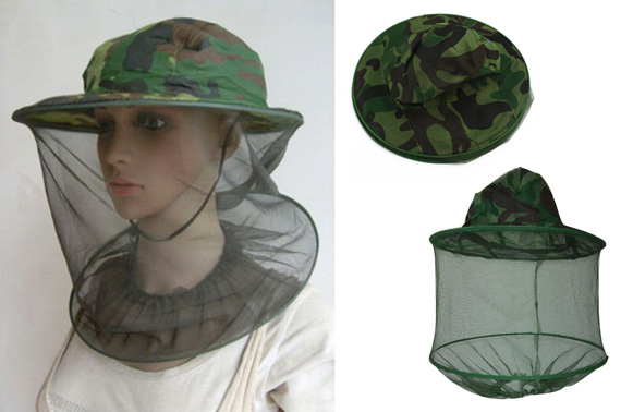 FREE Ozstock Day: Camouflage Fishing Hat with Head Protect Mesh
