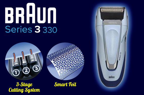 Super Deal: Braun Series 3 330 Rechargeable Foil Electric Shaver