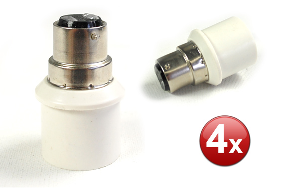 FREE Ozstock Day: 4 Pieces E27 to B22 Light Bulb Socket Converter
