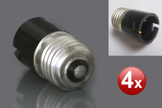 FREE Ozstock Day: 4 Pieces B22 to E27 Light Bulb Socket Converter