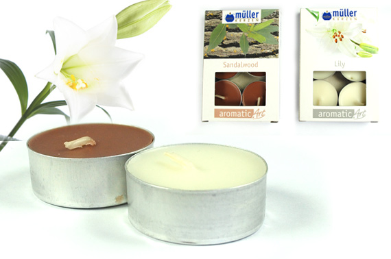 4x Scented Tealights 6-Piece Pack (Lily/Sandalwood)