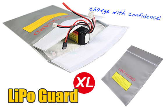 FREE Ozstock Day: Fireproof Li-Po Guard (Extra Large) - Safety Battery Bag for Charging and Storage
