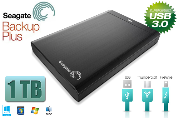 Super Deal: Seagate BACKUP PLUS USB3.0 1TB Portable 2.5