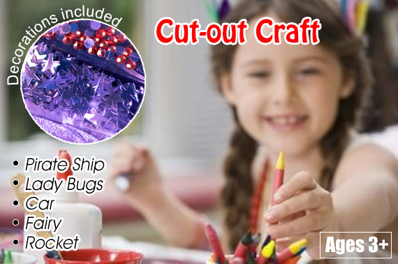 FREE Ozstock Day: 5x Children's Cut-out Craft Combo Pack for Kids