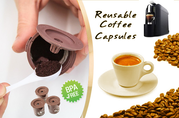 Pack of 3 Reusable Espresso Capsules