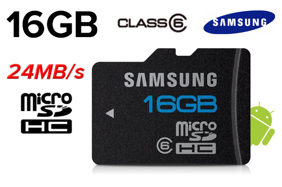 Free Shipping: Samsung 16GB Class 6 Micro SDHC High Speed Memory Card