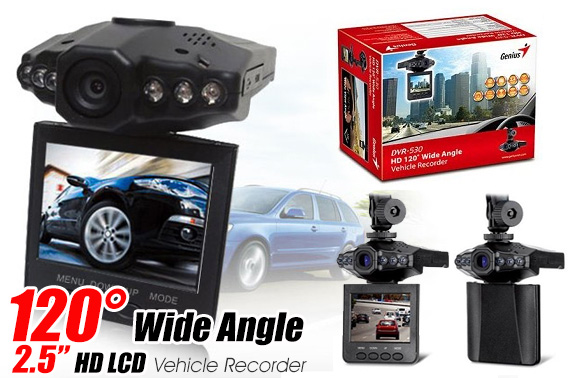 Genius HD 120 Degree Wide Angle Vehicle Recorder