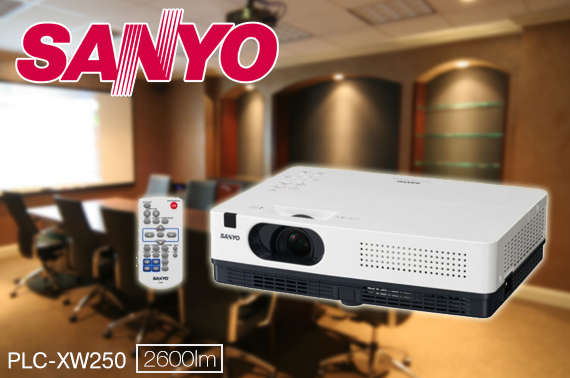 Refurbished Sanyo PLC-XW250 XGA LCD Projector, 2600 Lumens / Contrast 500:1 / HD Ready