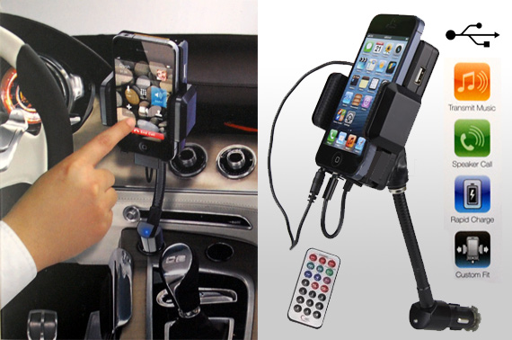 FM Transmitter/Car Charger/Holder Kit for iPhone 5