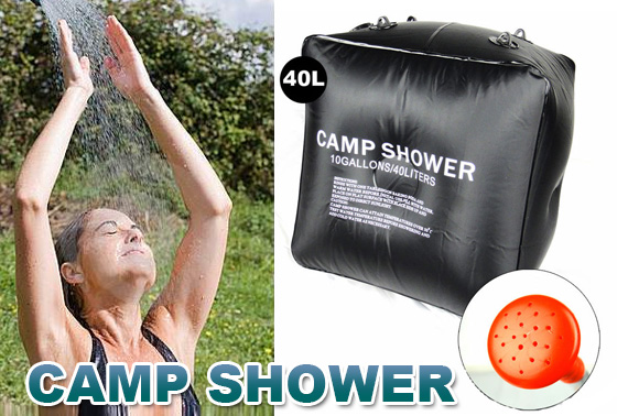 40 Litre Portable Solar Heating Outdoor Camp Shower Bag
