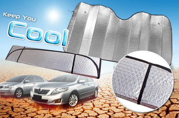 Foldable Heat Reflective Car Windscreen Sunshade Cover