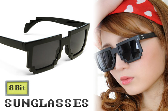 8 Bit Pixelated Sunglasses