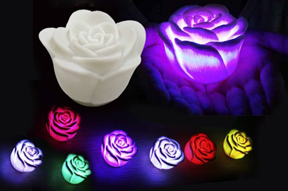 4x Rose Night Lights