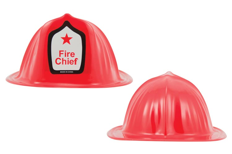 2x Plastic Toy Fire Chief Hat